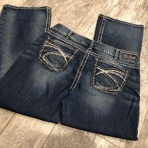 Silver Jeans Suki Bootcut 16 30 Thick Stitching